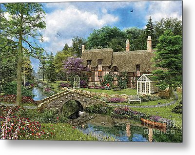 Cobble Walk Cottage Metal Print by Dominic Davison