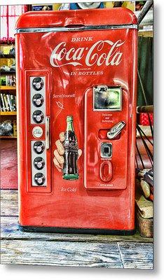 Coca-cola Retro Style Metal Print by Paul Ward