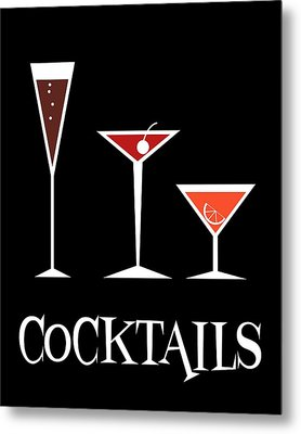 Cocktails Metal Print by Donna Mibus