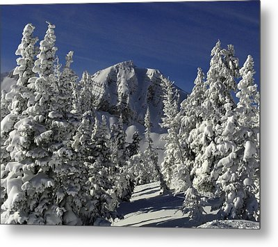 Cody Peak After A Snow Metal Print by Raymond Salani III