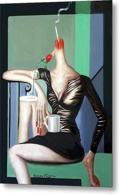 Coffee Break Metal Print by Anthony Falbo
