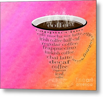 Coffee Cup The Jetsons Sorbet Metal Print by Andee Design