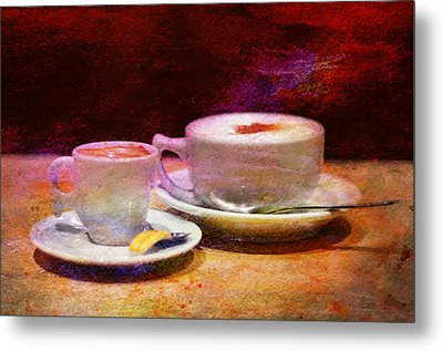 Coffee For Two Metal Print by Laura Fasulo