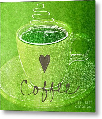 Coffee Metal Print by Linda Woods