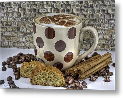 Coffee Time Metal Print by Tracy  Hall