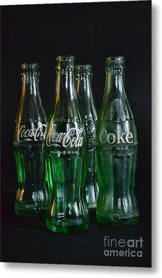 Coke Bottles From The 1950s Metal Print by Paul Ward