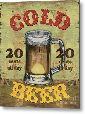 Cold Beer Metal Print by Debbie DeWitt