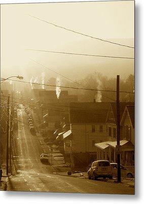Cold Coal Town Morning Metal Print by Feva  Fotos
