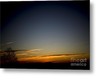 Cold Morning Sunrise Metal Print by Michael Waters