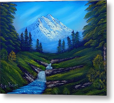 Cold Mountain Metal Print by Fineartist Ellen