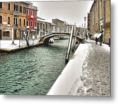 Metal Print featuring the photograph Cold Winter In Venice by Thierry Bouriat