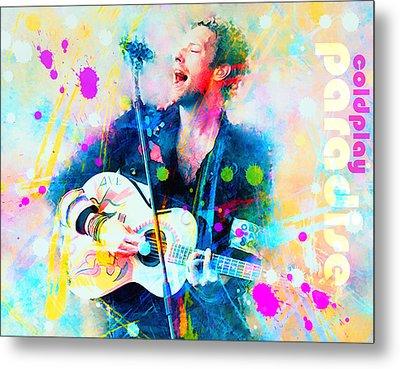 Coldplay Paradise Metal Print by Rosalina Atanasova
