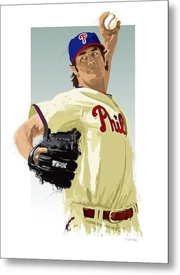 Cole Hamels Metal Print by Scott Weigner