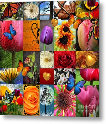 Collage Of Happiness  Metal Print by Mark Ashkenazi
