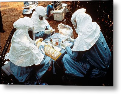 Collecting Ebola Samples Metal Print by Cdc