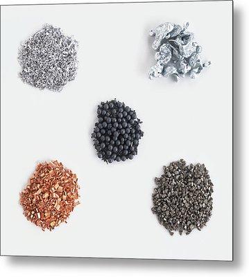 Collection Of Metals Metal Print by Dorling Kindersley/uig