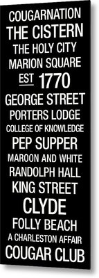College Of Charleston College Town Wall Art Metal Print by Replay Photos