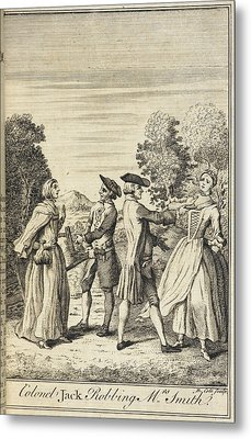 Colonel Jack Robbing Mrs Smith Metal Print by British Library