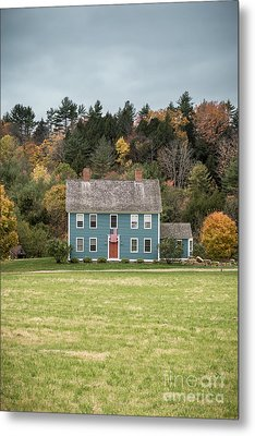 Colonial Home Metal Print by Edward Fielding
