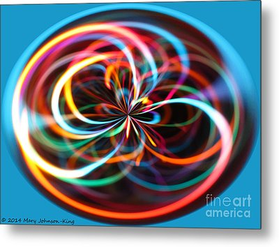 Color Elipse Metal Print by Mary  King