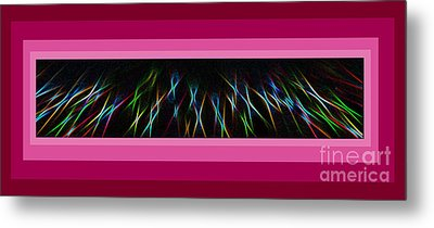 Color Lightrays Framed In Pink To Red Hues Metal Print by ImagesAsArt Photos And Graphics