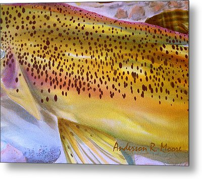 Color Me Trout- Brown Metal Print by Anderson R Moore