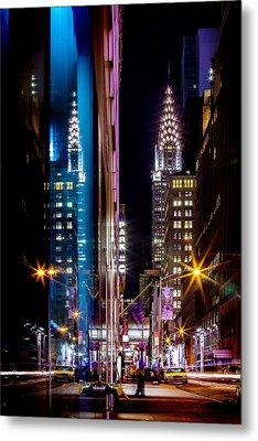 Color Of Manhattan Metal Print by Az Jackson