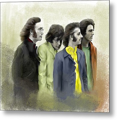 Color White The Beatles Metal Print by Iconic Images Art Gallery David Pucciarelli