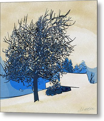Color Of Winter Metal Print by Marina Likholat