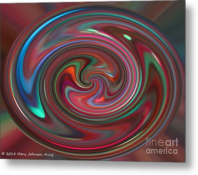 Color Painting Metal Print by Mary  King