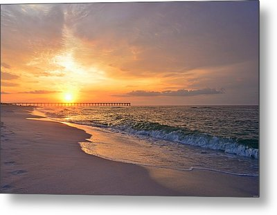 Color Palette Of God On The Beach Metal Print by Jeff at JSJ Photography