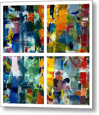 Color Relationships Collage Metal Print by Michelle Calkins