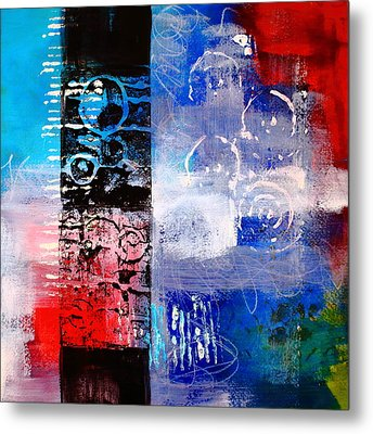 Color Scrap Metal Print by Nancy Merkle