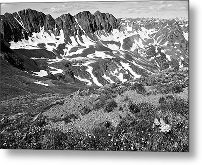 Colorado Black And White Metal Print by Aaron Spong