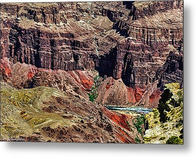 Colorado River In The Grand Canyon High Water Metal Print by Bob and Nadine Johnston