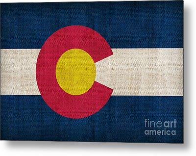Colorado State Flag Metal Print by Pixel Chimp