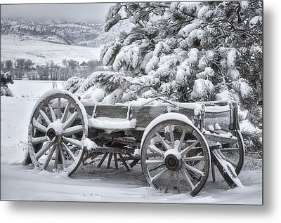 Colorado Wagon Metal Print by Darren  White