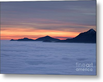 Colored Sunset Metal Print by Maurizio Bacciarini