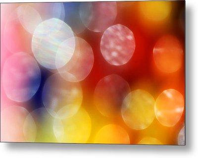 Colorful Abstract 4 Metal Print by Mary Bedy