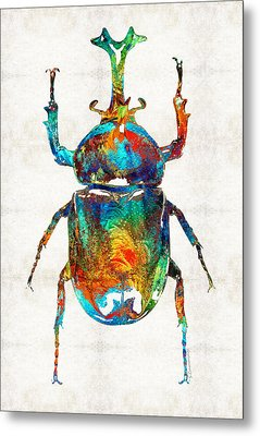 Colorful Beetle Art - Scarab Beauty - By Sharon Cummings Metal Print by Sharon Cummings