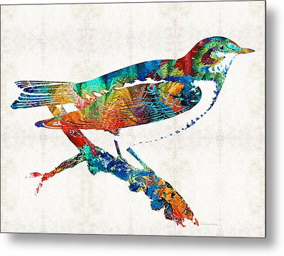 Colorful Bird Art - Sweet Song - By Sharon Cummings Metal Print by Sharon Cummings