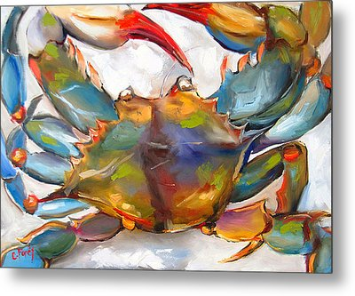 Colorful Blue Metal Print by Carole Foret