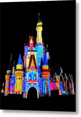 Colorful Castle Metal Print by Benjamin Yeager