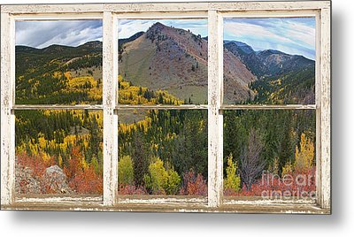 Colorful Colorado Rustic Window View Metal Print by James BO  Insogna