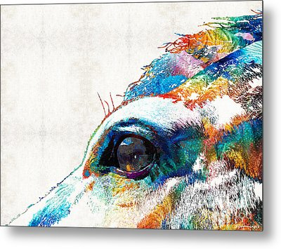 Colorful Horse Art - A Gentle Sol - Sharon Cummings Metal Print by Sharon Cummings