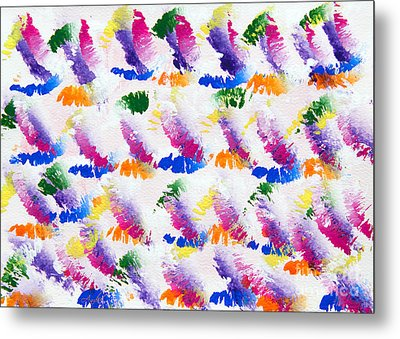 Colorful Kisses Metal Print by Andee Design