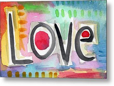 Colorful Love- Painting Metal Print by Linda Woods