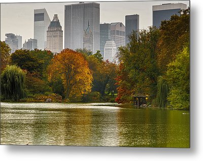 Colorful Magic In Central Park New York City Skyline Metal Print by Silvio Ligutti