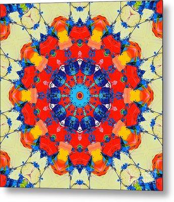 Colorful Mandala Metal Print by Ana Maria Edulescu