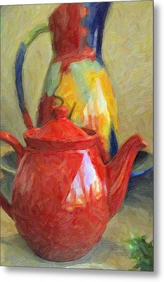 Colorful Pottery Metal Print by Kenny Francis